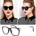 Mulheres elegantes Óculos Óculos Limpar Lens Meral Perna Óculos de Armação
