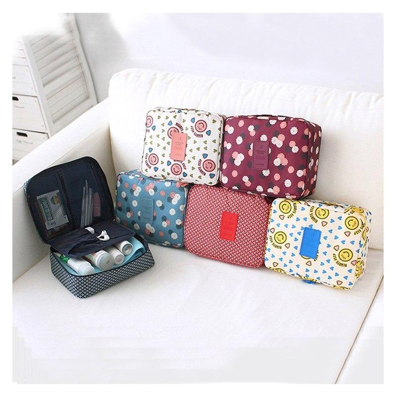 Cute Print Ladies Makeup Storage Bag Travel Multi-Function Storage Bag Oxford Cloth Waterproof Female Wash Cosmetic Storage Bag