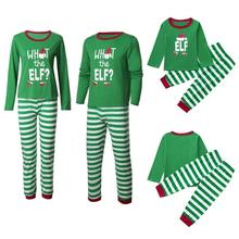 Family Christmas Pajamas 2018 New Year Set Winter Green Matching Outfits Dad Mom Kid Long Sleeve