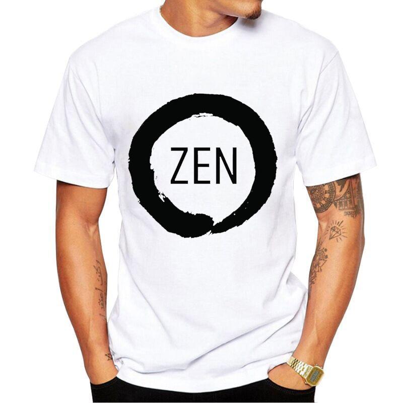 PC CP Uprocessor AMD RYZEN T Shirt geek programmer tees Gaming camiseta Computer ZEN Peripherals Tshirt white top tee