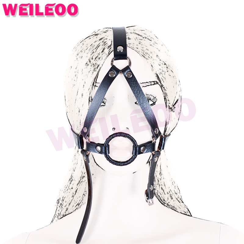 Buy harness open mouth gag ball adult sex toys bdsm bondage set fetish slave bdsm sex toys couples adult games