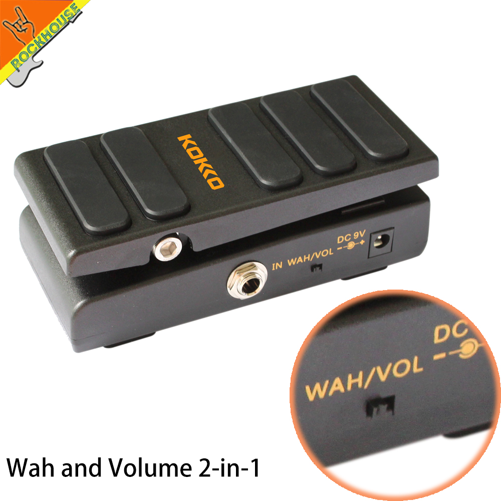 New Kokko Wah Wah Pedal Expression pedal Volume Guitar Effects Pedal 2 in 1 Analog Guitar WAH Stompbox True Bypass Free Shipping hotone soul press volume expression wah wah guitar pedal cry baby sound