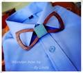 Весело личность романтический мужчины галстуки досуг древесины лук галстук бабочкой бабочки с подарочной коробке