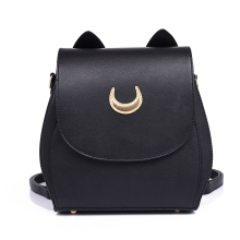 Moon Sailor PU Backpack Cute Girl's Travel Double Shoulder Bags