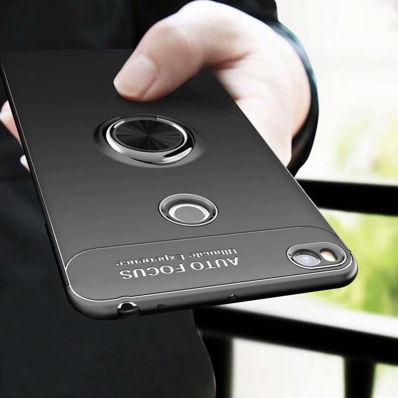 Mi max 2 Case Magnetic Ring Adsorption Cases for Xiaomi mi max 2 Cover Soft TPU Car Stand Case Cover Mi max 2 Bumper Shell