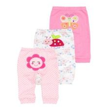 Set of 3 Pajama Pants for Babies with Cute Designs