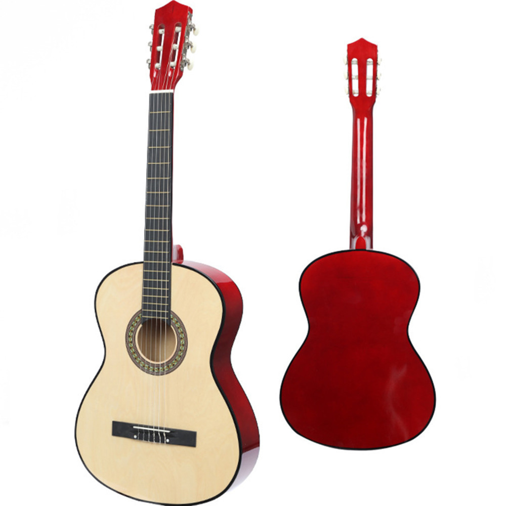 38 Inch Wood Guitar Beginner Practice Musical music Instrument tools Classical Guitar synthesizer dedo music gifts mg 308 pure handmade rotating guitar music box blue