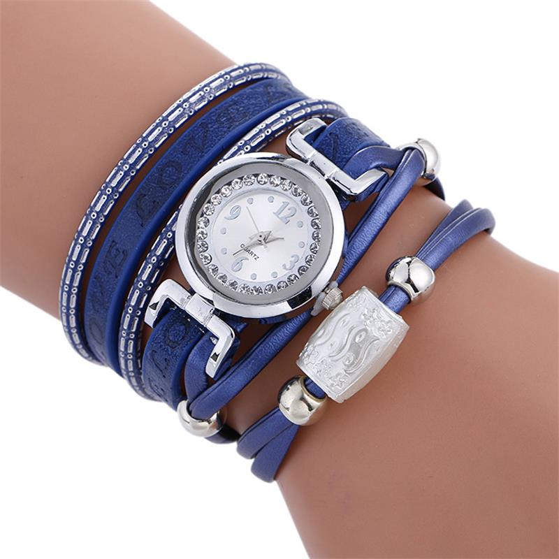 MINHIN Luxury Watches Women Silver Rhinestone Casual Bracelet Quartz Wristwatch Ladies Delicate Gift Clock Love Watch