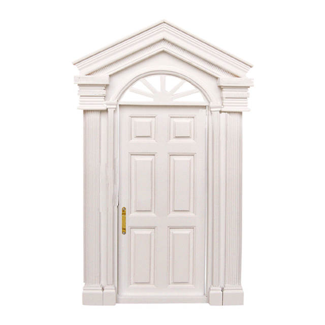 Us 11 41 47 Off New 1 12 Dollhouse Miniature Classic Toys Diy Luxury Wooden White Exterior Door 6 Panel Role Playing Furniture Toys For Child In