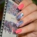 1 Hoja NACIDO PRETTY Beauty Nails Floreciente de La Flor Del Arte Del Clavo Pegatinas de Transferencia de Agua Calcomanías de Uñas de Flores BP-W19