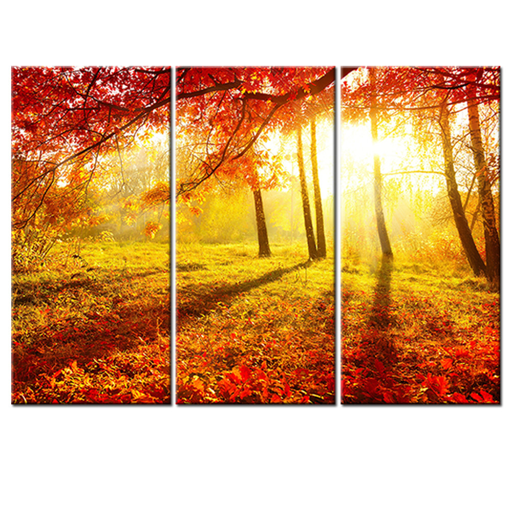 Modern Canvas HD Prints Poster Home Decor Wall Art 3 Pieces Red ...
