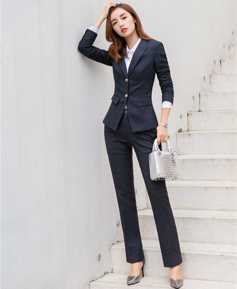2019 Formal Elegant Women's Blazers Trouser Suits Ladies Blazer Women Business Suits Pant and Jacket Sets Office Lady Work Wear