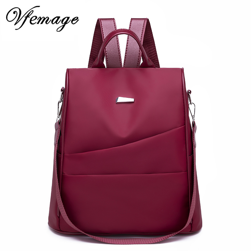 Vfemage Oxford Anti Theft Backpack Women Bag Multifunction Backpack Female Travel Bags School Bags For Girls Sac A Dos Mochila