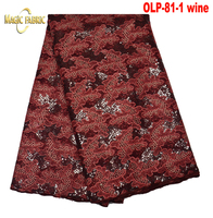 Latest double organza lace French sequins lace Swiss organza lace fabric for wedding OLP 81