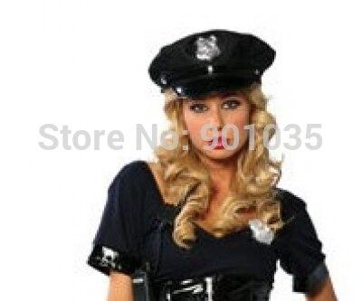 GRATIS VERZENDING Politieagent Hoed Dames Fancy Dress Accessoire Cop - Carnavalskostuums - Foto 1
