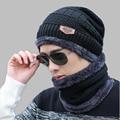 OZyc Балаклава вязаная шапка шарф кепки средства ухода за кожей Шеи Теплые Зимние шапки для мужчин wo для мужчин skullies шапочки Теплый Флис папа кепки - фото