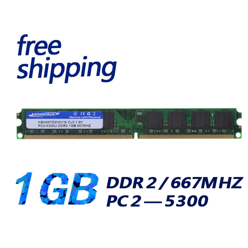 KEMBONA cheapest price free shipping desktop computer long-dimm ddr2 1gb 1g 667mhz pc5300 240pin work for A-M-D motherboard