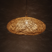 modern pendant lamps Rattan Pendant light Weaving round Nordic Hanging Lamp Fixture Luminaire art lighting AL009