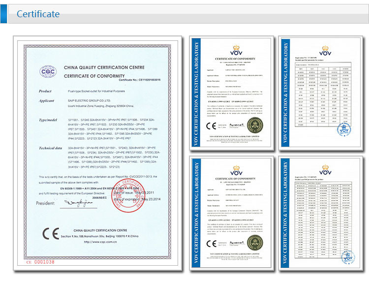 IP67 5 P 63A международной Стандартный Панель установленный прямой розеткой/Водонепроницаемый скрытый промышленная розетка(SP-1128