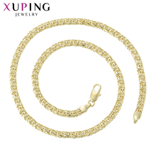 11.11 Xuping Fashion High Quality Popular Style Long Necklace Gold Yellow Color PLated for Neutral Jewelry Gifts S94-44758