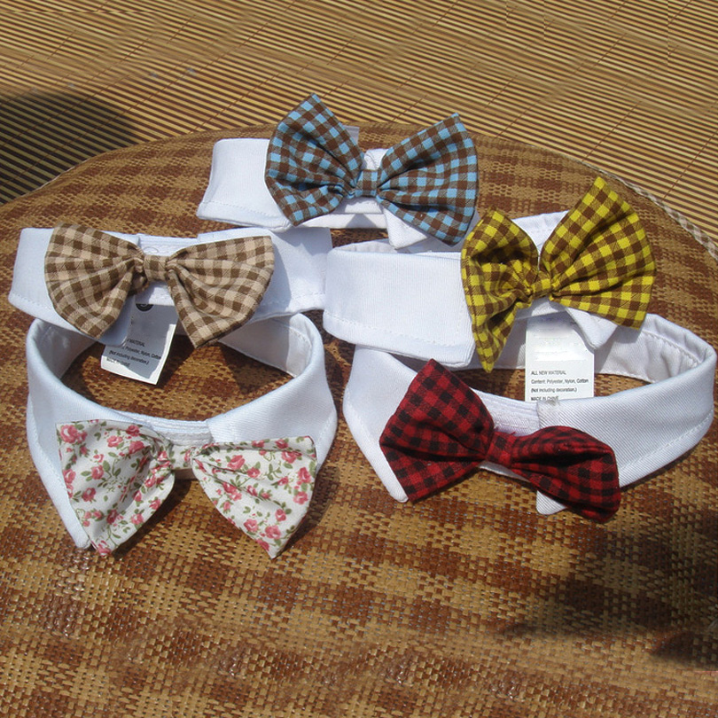 Hot Sales Pet Supplies Punaiset värit Kissat Dog Tie Wedding tarvikkeet Koirat Bowtie Kaulus Holiday Decoration Joulu Grooming