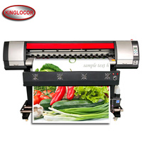 Impresora digital de 1 8 m para cartel adhesivo CMYK color vinilo lienzo cartelera post 1 8 m eco solvente impresora