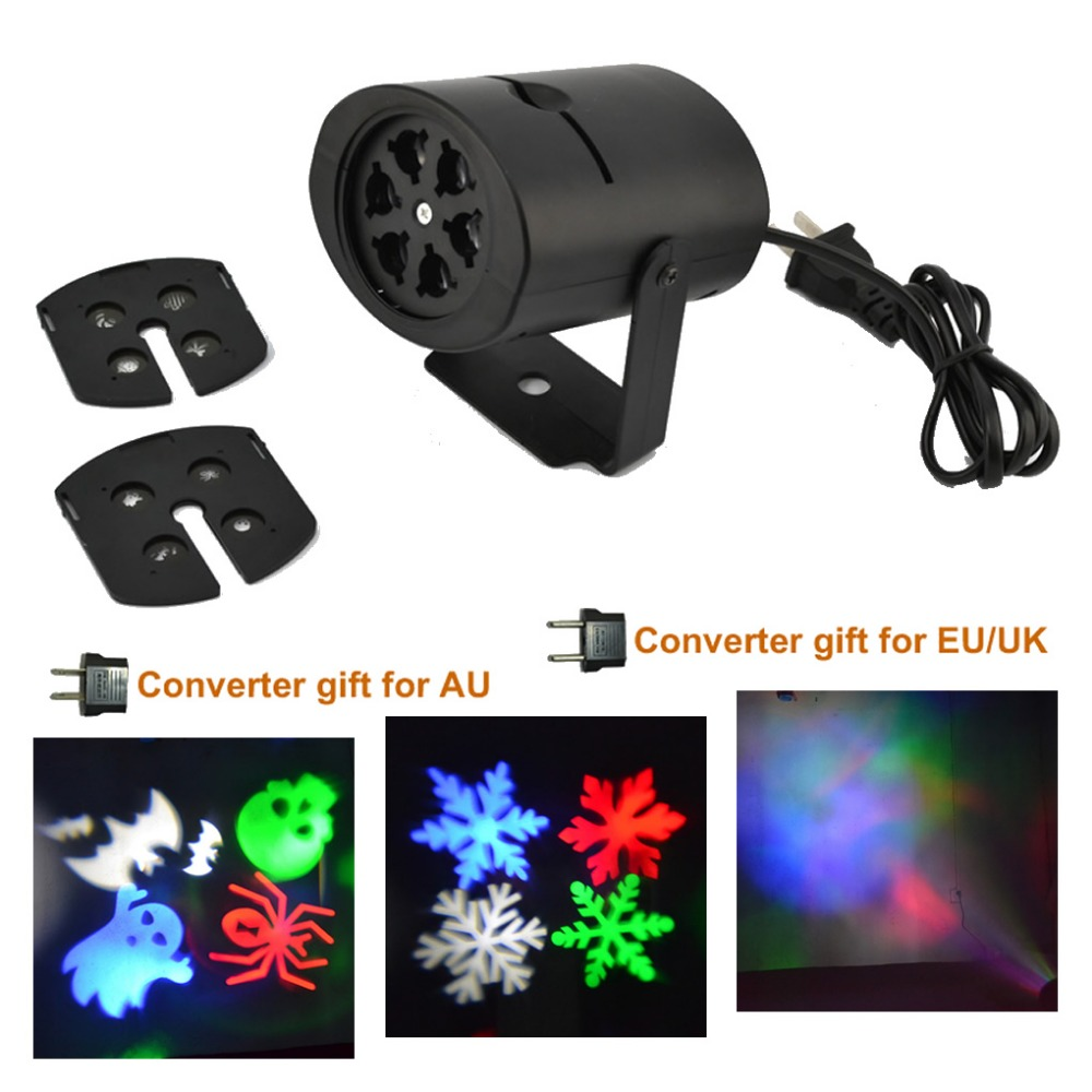 AUCD RGBW LED Aurora Halloween Snow Patterns Effect Projector Lights ...