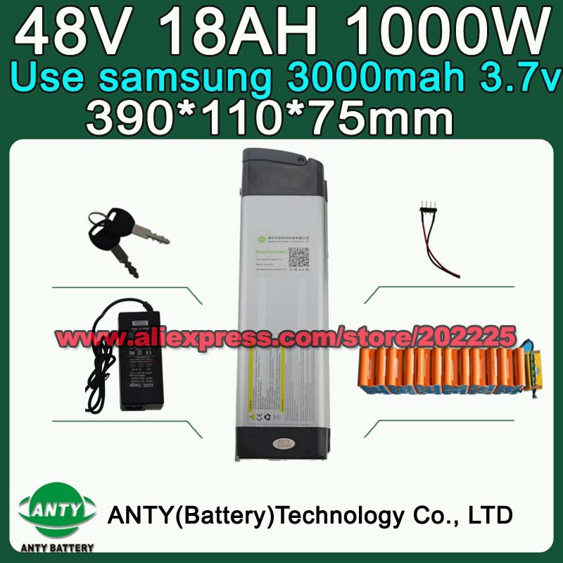 48V Battery 18Ah 1000W (use Samsung 3000) E-Bike Battery 48V Lithium ebike Battery Pack 48V with 54.6V 2A Charger,30A BMS 48v 15ah li ion ebike battery 750w 48v 15ah bottle battery pack use samsung 3000mah cell 20a bms with 2a charger
