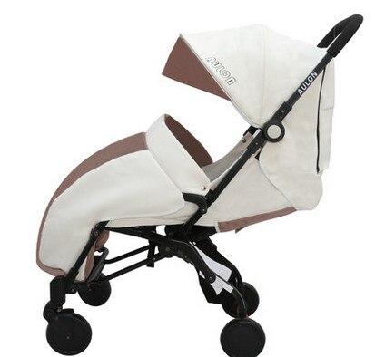 Baby stroller can sit lie lightweight portable folding four-wheel winter warm cart baby stroller lightweight portable folding children four wheel cart
