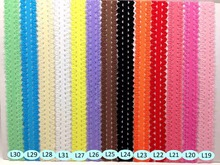 10 yards/Lot High Quality 7/8'' Picot Edges Stretch Lace, Frilly Edges Elastic Ribbon Webbing For Kids Headband Hair Tie Band