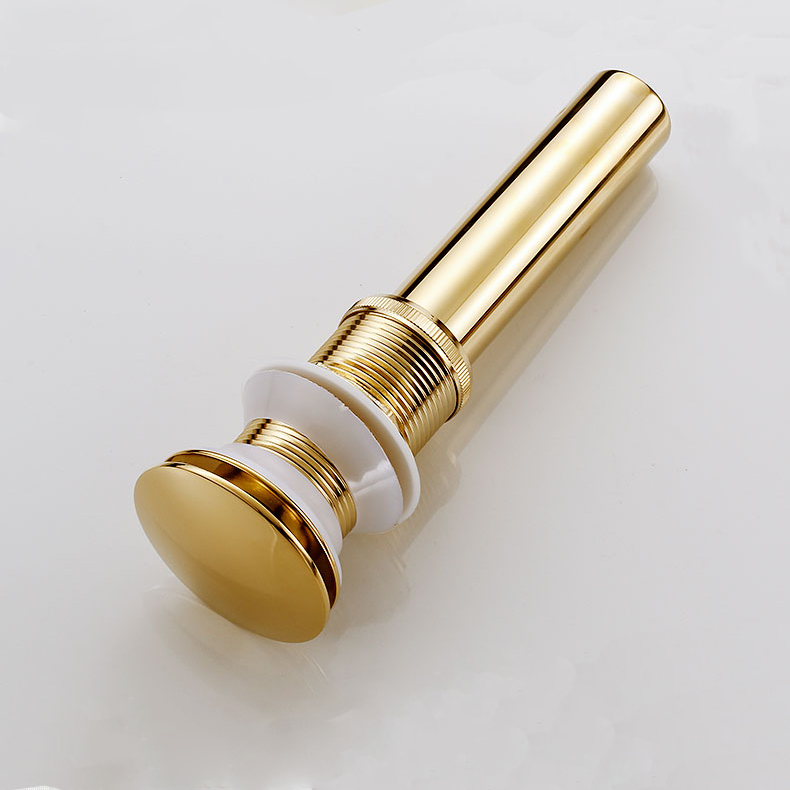 Nice Without Overflow Brass Bathroom Lavatory Sink Pop Up Drain Bathroom Basin Sink Use Bathroom Products/Accessories HJ-0618F