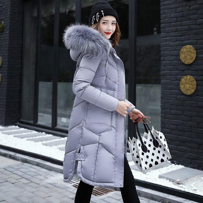 Women Hooded Coat Fur Collar Thicken Warm Long Jacket Thick Slim Womens Coats Jackets Outerwear Y460 2015 hot thicken warm woman down jacket hooded fox fur collar luxury coats outerwear parka slim brand mid long
