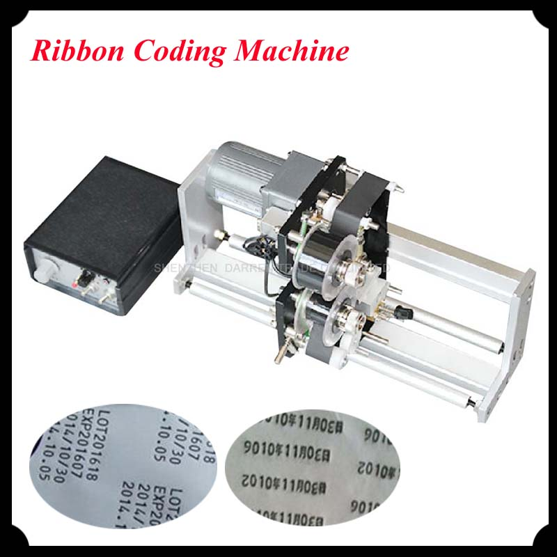 Color Ribbon Hot Printing Machine Aluminum Body Heat Ribbon Printer for Packing with English Manual HP-241G  цены