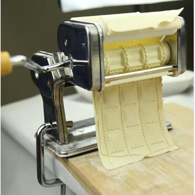 1 pc Stainless steel Pasta machine Ravioli Making machine/ Mold Dumpling machine hand dumpling making machine manual dumpling mold maker creative kitchen tools accelerator jiaozi mould making machine zf
