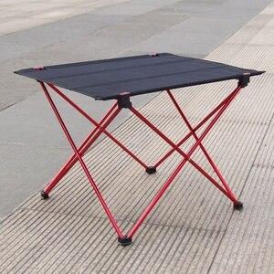 Image 4 - ホット販売ポータブル折りたたみ折りたたみテーブルデスクキャンプ屋外ピクニック6061アルミ合金超軽量折りたたみデスク