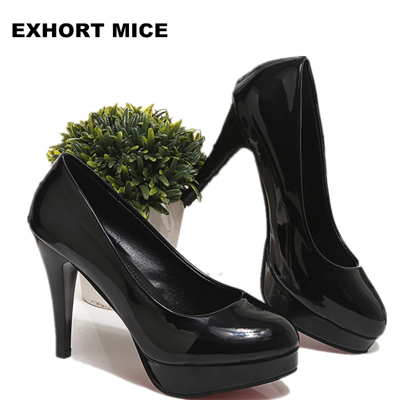 2018 Women Shoes Pointed Toe Pumps  Dress Shoes High Heels Boat Shoes Wedding Shoes  Female The Trend Of Ultra High Heels