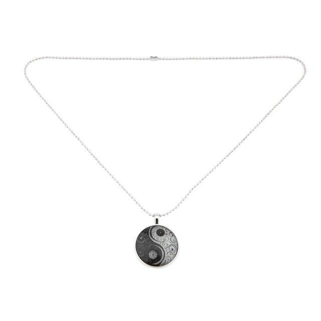 262cd1bb16 Men Women Couples Necklace Unique Special Design Metal Alloy Round Shape  Luminous Tai Chi Pattern Pendant
