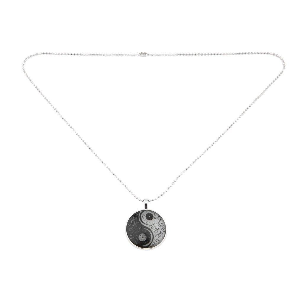 Men Women Couples Necklace Unique Special Design Metal Alloy Round Shape Luminous Tai Chi Pattern Pendant Necklace