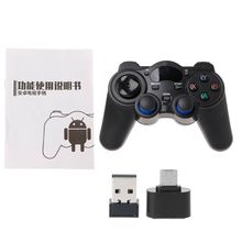 High Quality 2.4G Wireless Gaming Joystick Controller Gamepad For Android Tablet PC Smart TV Box terios s3 bluetooth gamepad for android wireless joystick gaming controller black for android smartphone android tv box