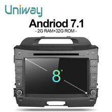 Uniway zzp8071 2 г + 32 г Android 7.1 автомобильный DVD для Kia Sportage 2014 2011 2009 2010 2013 2015 автомобиль Радио Стерео мультимедийный плеер