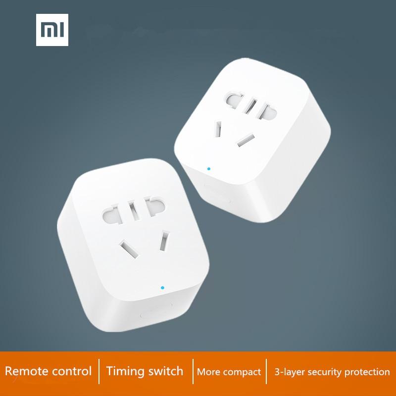 imágenes para En stock! original xiaomi inteligente socket plug versión básica wifi adaptador inalámbrico de control remoto enchufe de encendido y apagado con el teléfono