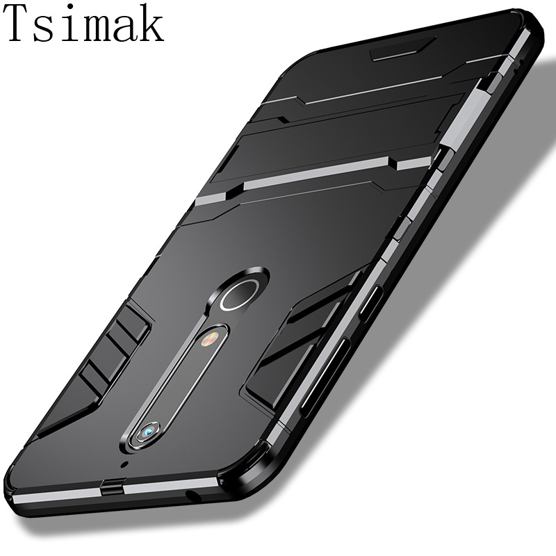 Tsimak Case For Nokia 1 2 3 5 6 8 6.1 X5 X6 X7 7 Plus 2.1 5.1 7.1 8.1 2018 Cover Silicone Rubber Armor Hard Phone Back Coque