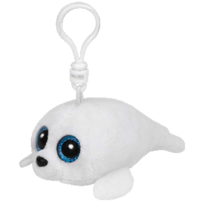 Ty большие глаза плюшевая белая уплотнительная кукла для ключей, игрушка 10 см