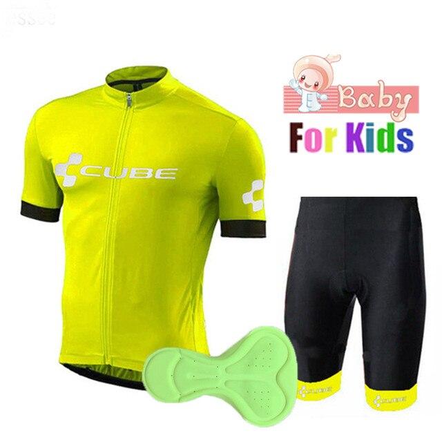 cab719703 2018 Kids Pro Team Cycling jersey set MTB Bike uniform cycle shirt Slim boys  Ropa ciclismo verano Cycling Clothing suit child
