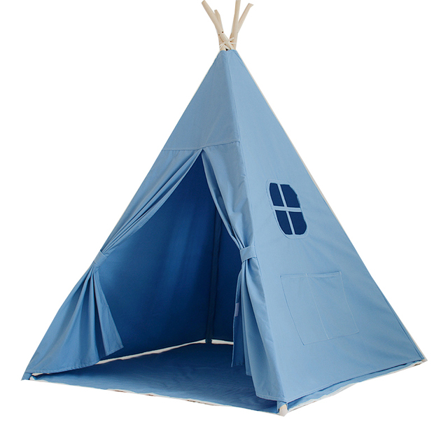 Lovely cartoon teepee kid play tent kids teepee play house 100% cotton fabric children play  sc 1 st  AliExpress.com & Lovely cartoon teepee kid play tent kids teepee play house 100 ...