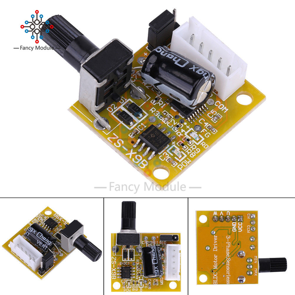 DC 5V-12V-15V 2A 15W BLDC 3-Phase Brushless Motor Speed Controller DC Motor Driver Sensorless Board Module