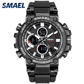 Men Military Watch 50m Waterproof Wristwatch LED Quartz Clock Sport Watch Male relogios masculino 1803 Smael Watch Men Shock ohsen men shock resistant sports watch quartz hour digital watch military 30m waterproof silicone strap led dual time wristwatch