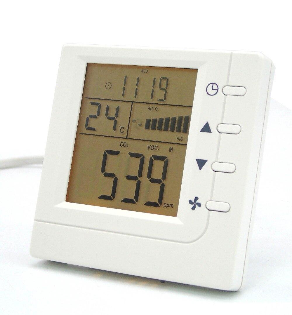 La qualité de l'air intérieur COV CO2 moniteur/détecteur/Ventilateur Ventilateur contrôle avec RS485 communication