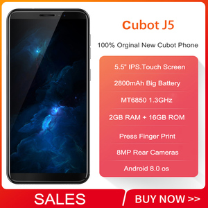 "Image 2 - 2019 Cubot J5 5,5 ""18:9 Smartphone Android 9.0 MT6580 Quad Core 2 GB RAM 16 GB ROM 2800 mAh 3G Dual Sim Celular handy"