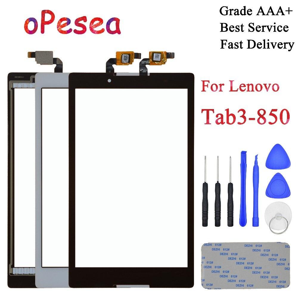 3 TAB3 8.0 850 850F oPesea Para Lenovo Tab 850M TB3-850M TB-850M Tab3-850 Novo Digitador Da Tela de Toque Do Painel Frontal sensor de Vidro